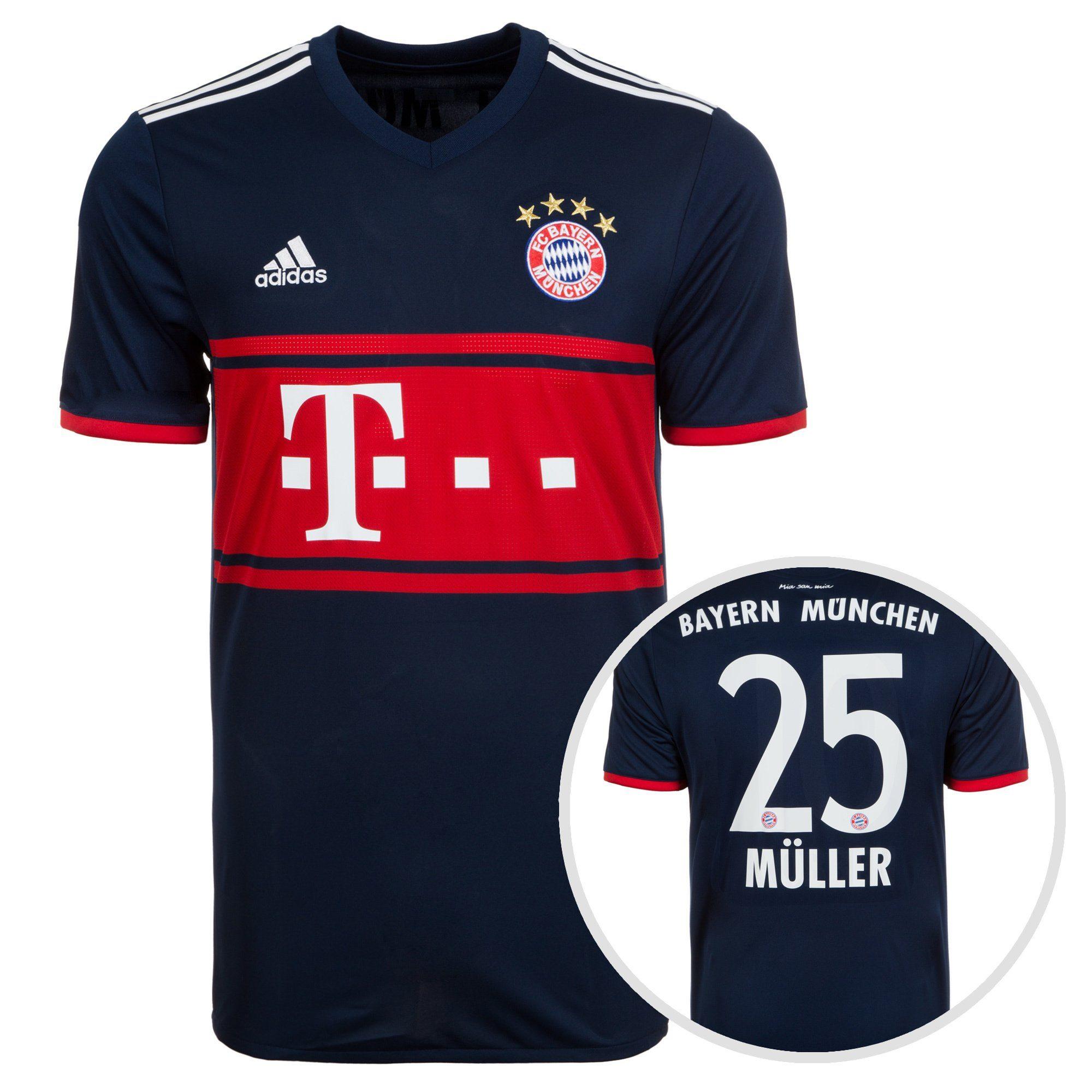 adidas Performance Fußballtrikot »Fc Bayern München 17/18 Away Müller« | Sportbekleidung > Trikots | Blau | Trikot | ADIDAS PERFORMANCE