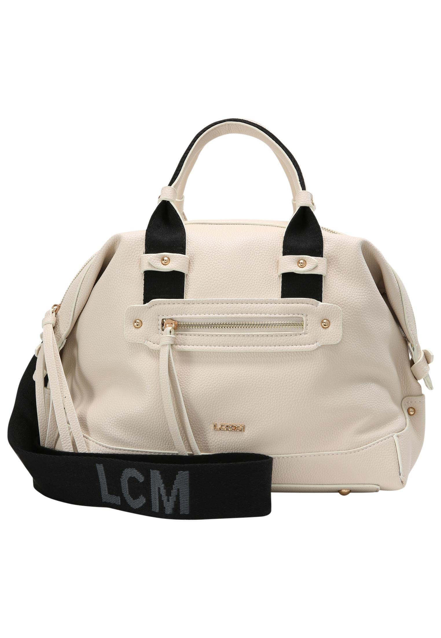 L. CREDI Bowlingtasche Gianna Bowlingbag weiß Damen Taschen