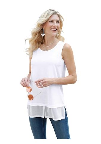 Classic Basics Longtop mit angesetzten Chiffon - Saum kaufen