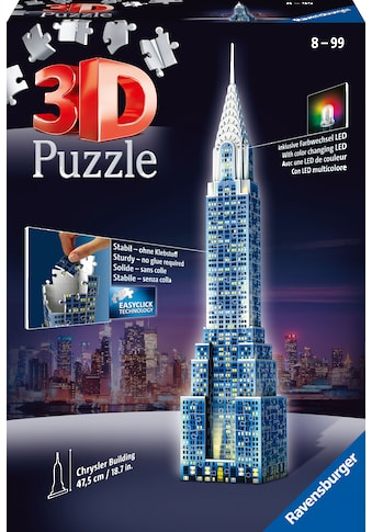 Ravensburger 3D-Puzzle »Chrysler Building«, mit Leuchtmodul inkl. LEDs; Made in Europe, FSC® - schützt Wald - weltweit kaufen