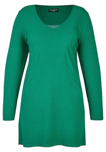 VIA APPIA DUE Elegantes Long - Sweatshirt mit Ziernähten Plus Size kaufen