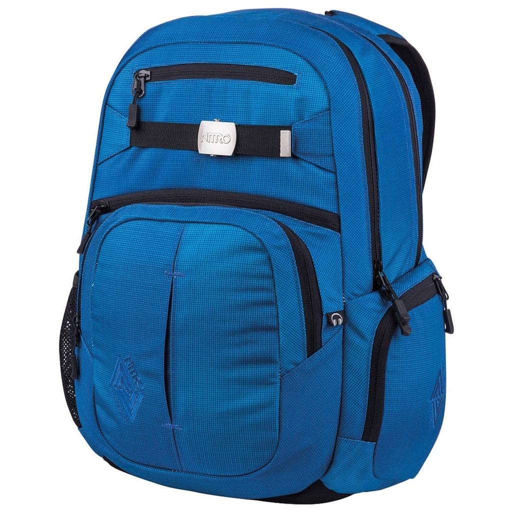NITRO Schulrucksack »Hero, Blur Brilliant Blue«, mit Laptopfach