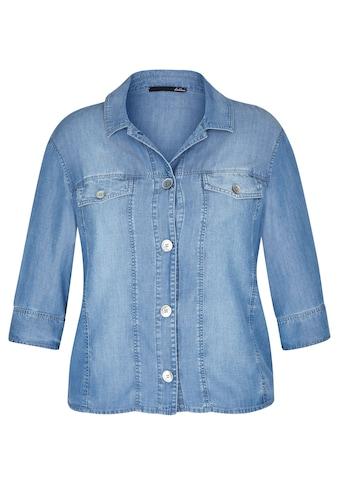 LeComte Jeansbluse, mit unifarbenem Stoff und Knopfleiste kaufen
