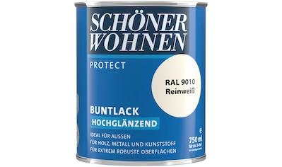 SCHÖNER WOHNEN-Kollektion Lack »Protect Buntlack«, hochglänzend, 750 ml, reinweiß RAL 9010 kaufen