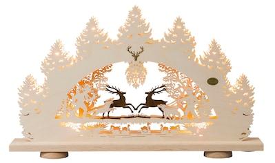 SAICO Original 3D - Lichterbogen Springende Hirsche, 10flammig elektrisch beleuch kaufen