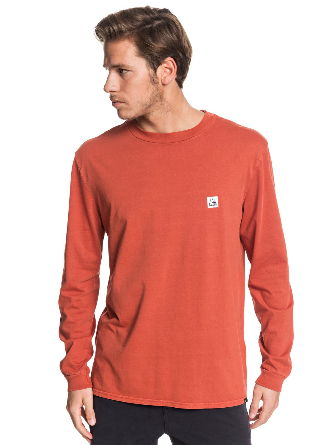 Quiksilver Langarmshirt In The Middle | Bekleidung > Shirts > Langarm Shirts | Rot | Quiksilver
