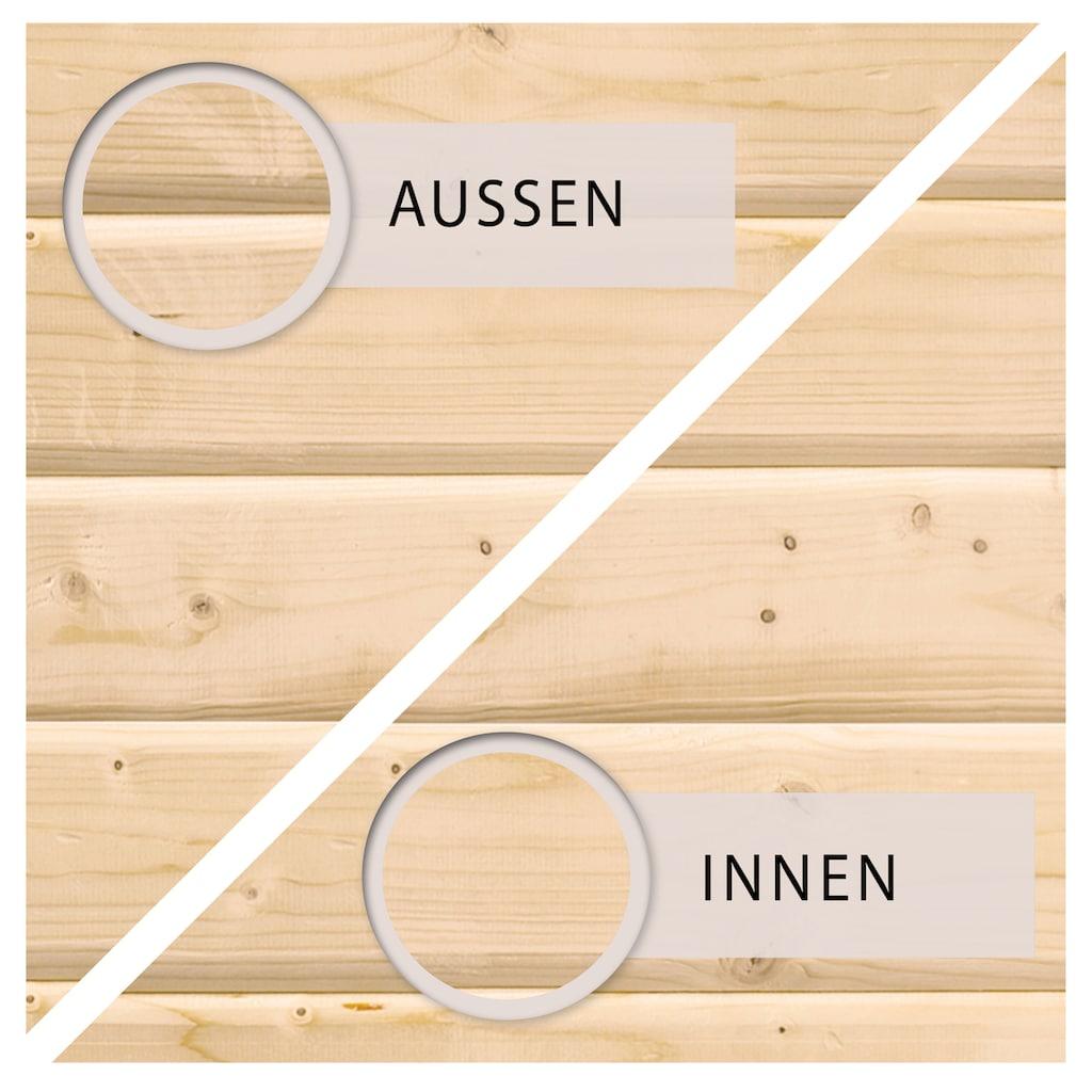 KONIFERA Set: Gartenhaus »Schloßsee 3«, BxT: 515x273 cm, mit Anbau inkl. Seiten- und Rückwand