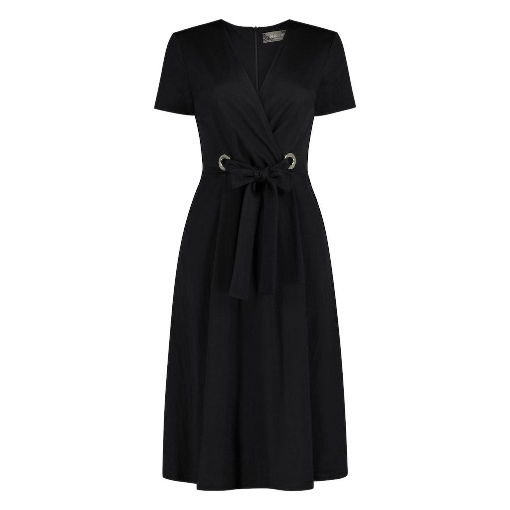 Nicowa Ausgestelltes Kleid ANICEN mit raffinierter Taille