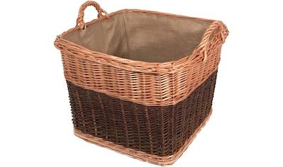Franz Müller Flechtwaren Dekokorb »Flechtwerk«, aus robuster Weide, quadratisch kaufen