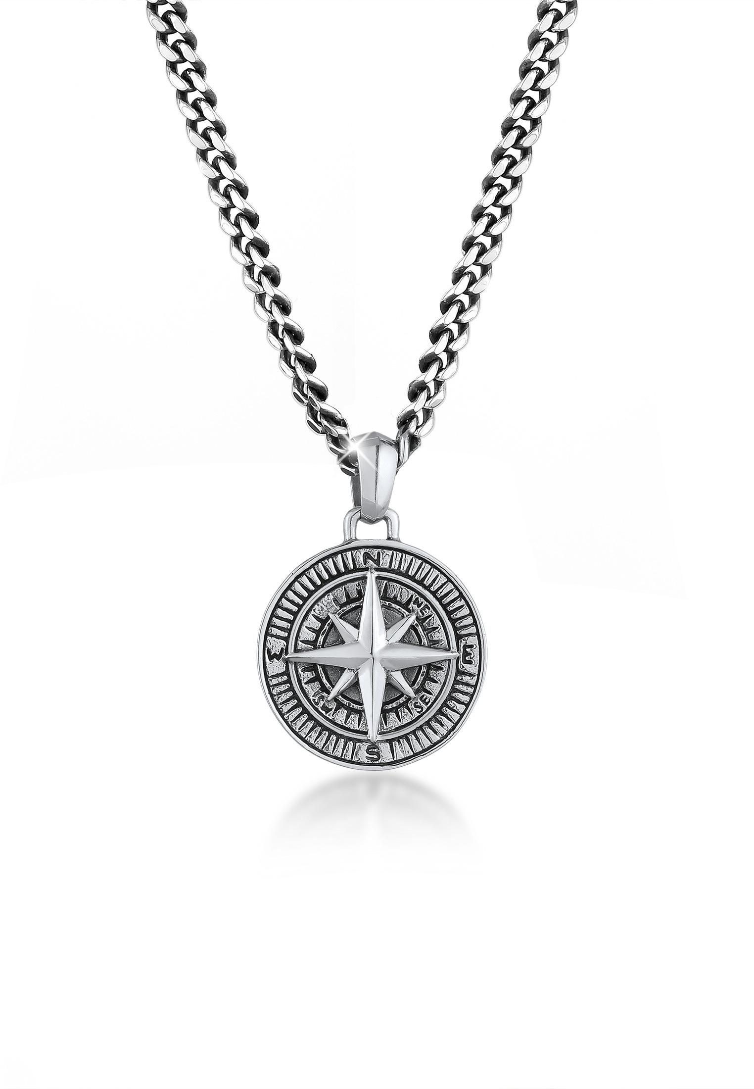 gute Textur verkauft bieten eine große Auswahl an Kuzzoi Silberkette »Herren Panzerkette Kompass Maritim 925er Silber«  bestellen   BAUR