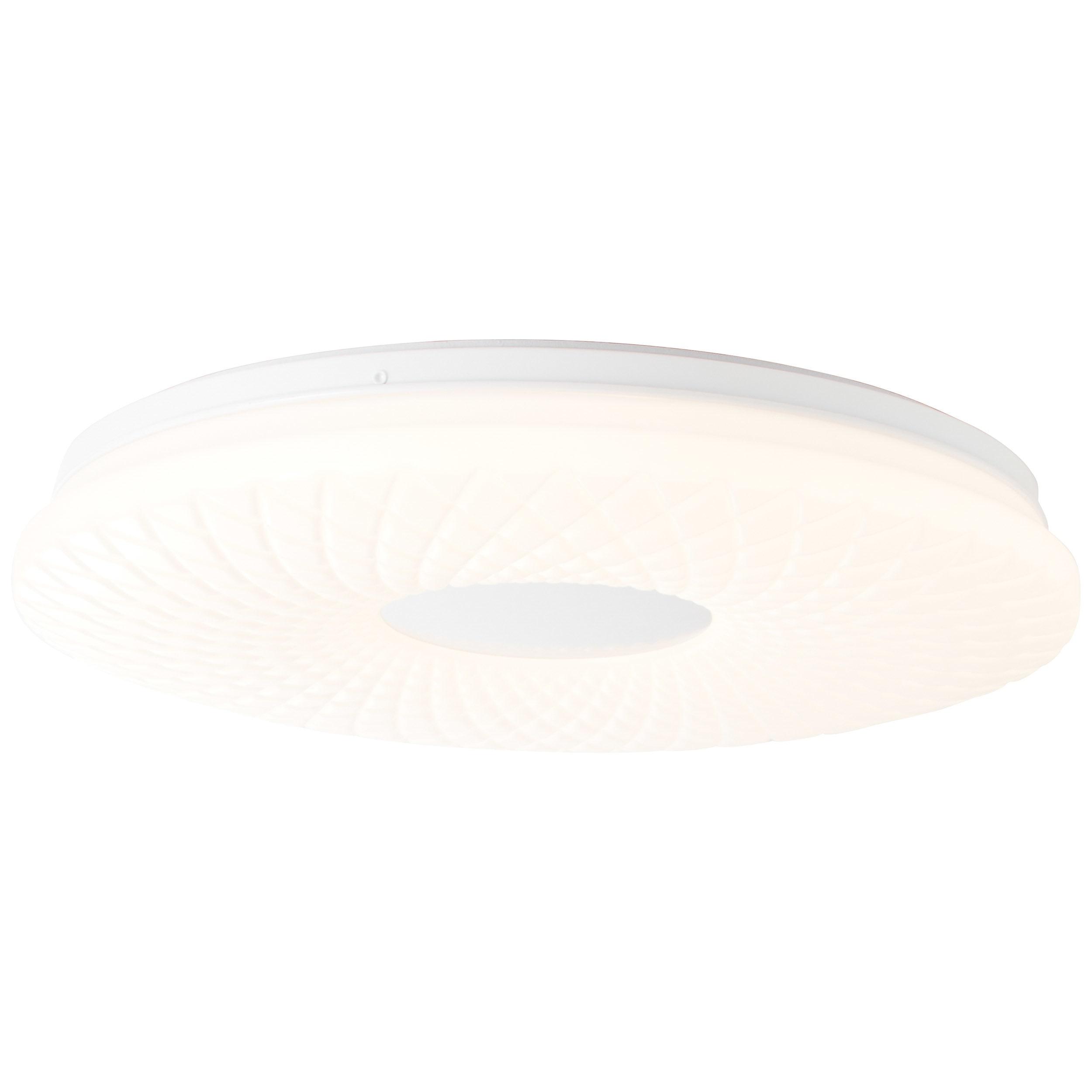 Brilliant Leuchten Ricci LED Deckenleuchte 39cm alu/weiß