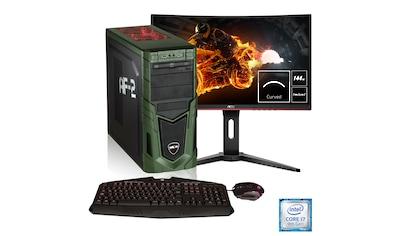 Hyrican Gaming PC i7 - 9700K, RTX 2060, 32GB RAM + 69 cm (27'') TFT »Military Gaming SET1792« kaufen