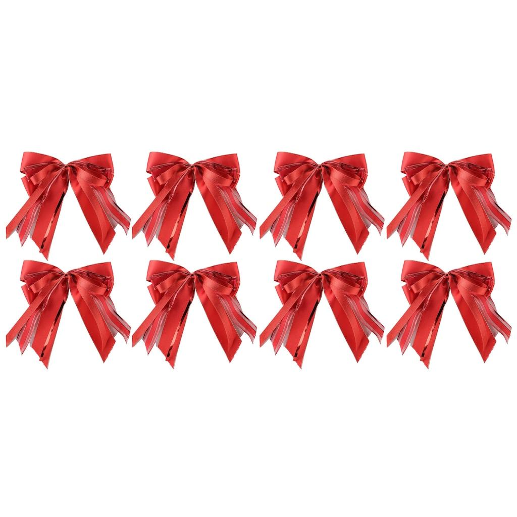 PRÄSENT Weihnachtsbaumschleife, (Set, 8 tlg.), handgebunden