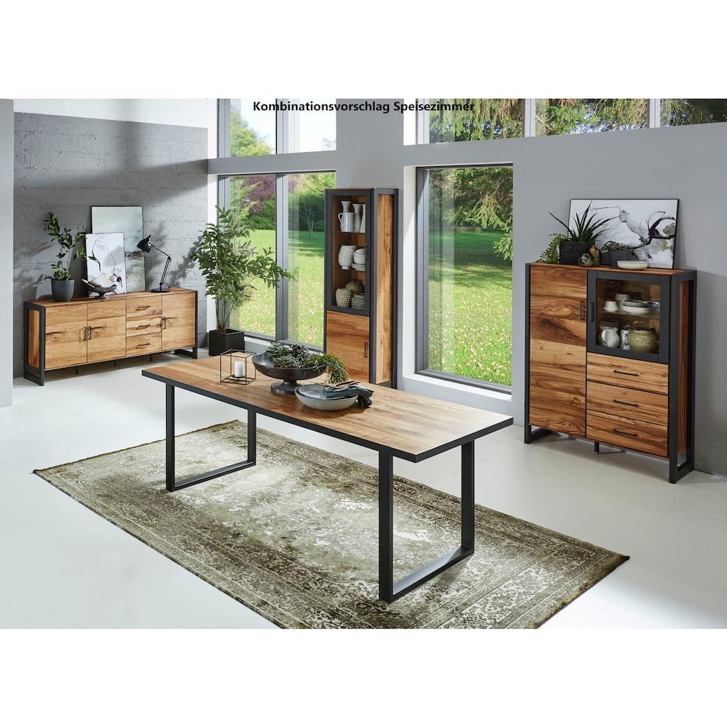 Relita Sideboard »Montana«, mit schön gemasertem Holzfurnier, im Industrial Design