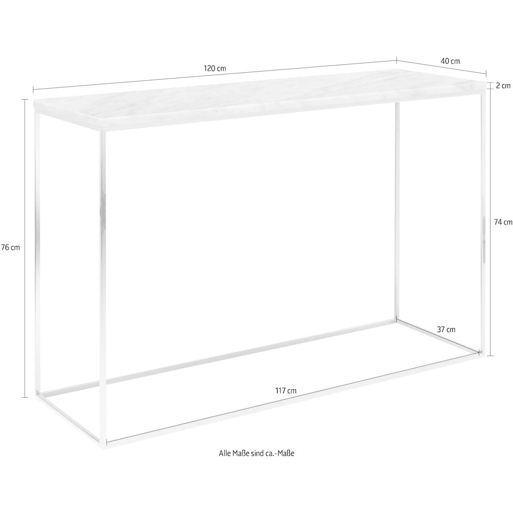 TemaHome Konsolentisch »Gleam«, mit einer edlen Marmorplatte und einem Chromgestell