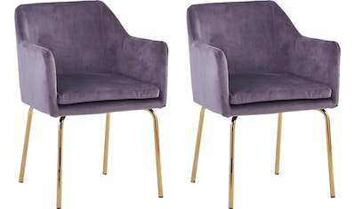 SIT Armlehnstuhl »Sit&Chairs«, mit weichem Samtvelours, im 2er-Set kaufen