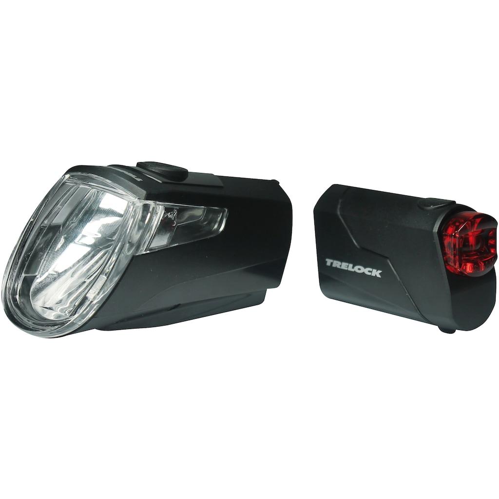 Trelock Fahrradbeleuchtung »LS 360 I-GO ECO 25/LS 720 REEGO SET BLACK«, (Front- und Rücklicht)