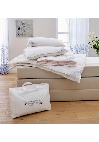 Guido Maria Kretschmer Home&Living Bettdecke + Kopfkissen »Magnolia«, (Spar-Set), Mit hochwertigen Gänsedaunen gefüllt! kaufen