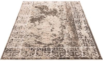 Home affaire Teppich »Dorian«, rechteckig, 12 mm Höhe, mit Glazngarn, Wohnzimmer kaufen