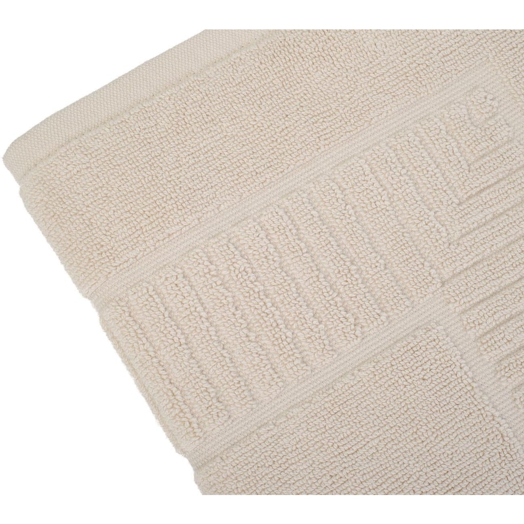 Gözze Badematte »Bio Uni«, Höhe 7 mm, fußbodenheizungsgeeignet-beidseitig nutzbar, Bio-Baumwolle