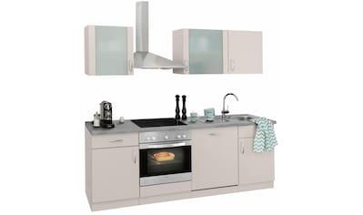wiho Küchen Küchenzeile »Brüssel«, mit E-Geräten, Breite 220 cm kaufen