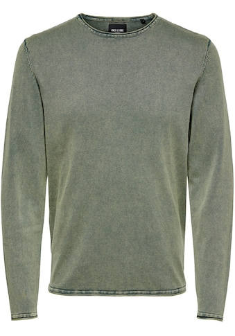 ONLY & SONS Rundhalspullover »GARSON 12 WASH CREW NECK KNIT« kaufen