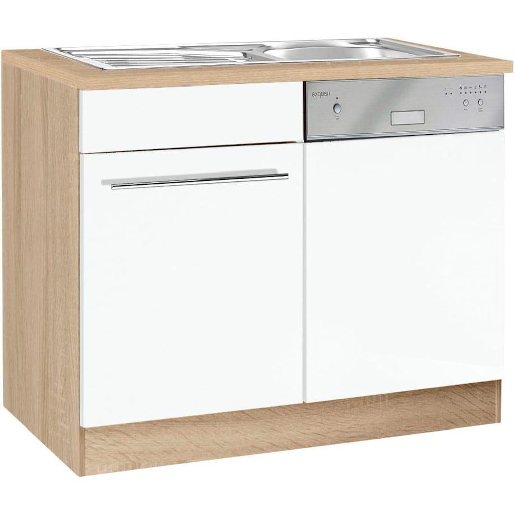 HELD MÖBEL Spülenschrank »Eton«, Breite 110 cm, inkl. Tür/Sockel für Geschirrspüler