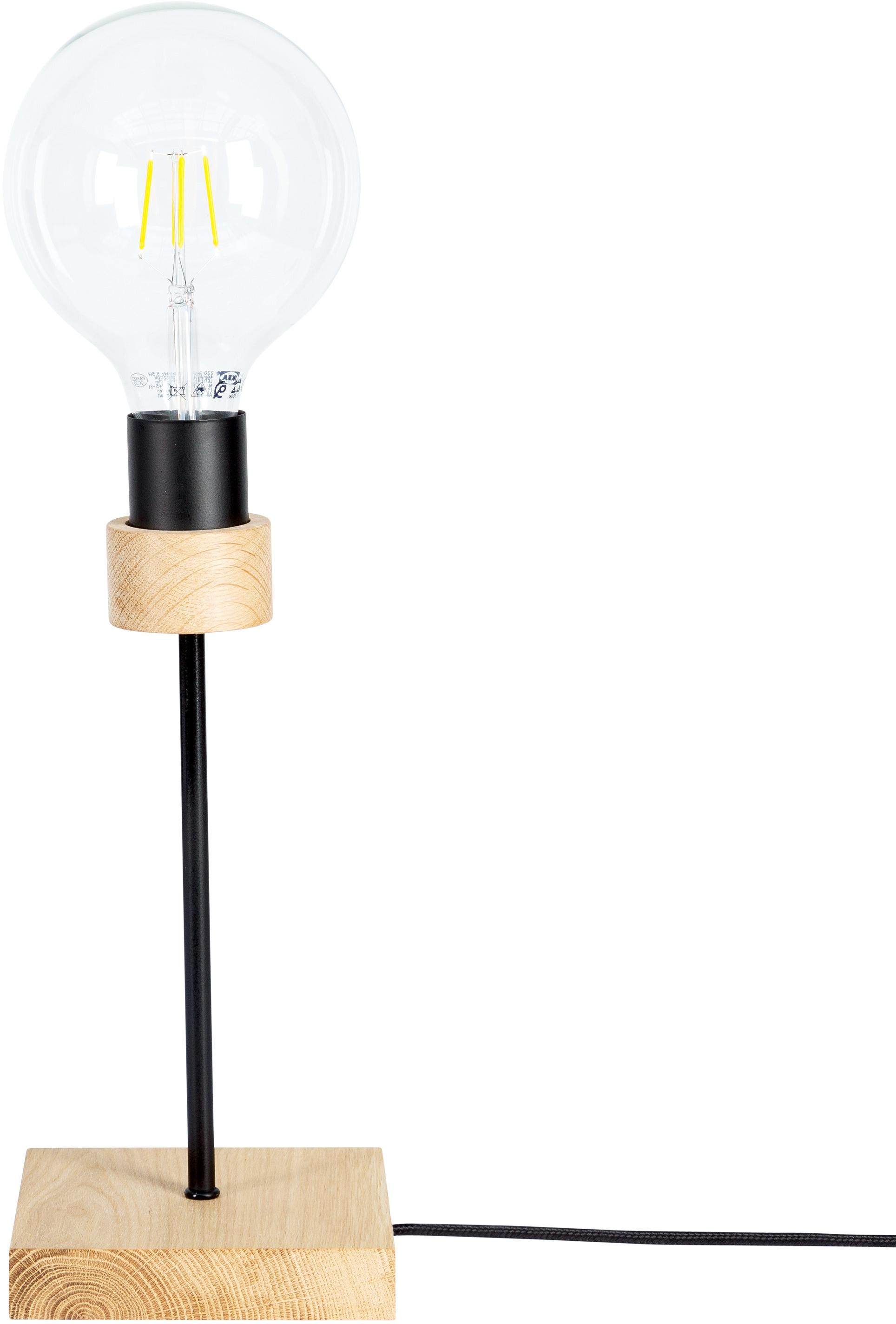 BRITOP LIGHTING Tischleuchte CHANDELLE, E27, 1 St., Naturprodukt aus Eichenholz, Nachhaltig mit FSC-Zertifikat, passende LM E27/exclusive, Made in EU