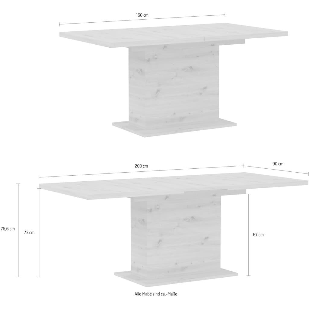 FORTE Esstisch, Breite 160-200 cm, Auszugsfunktion auf 200 cm