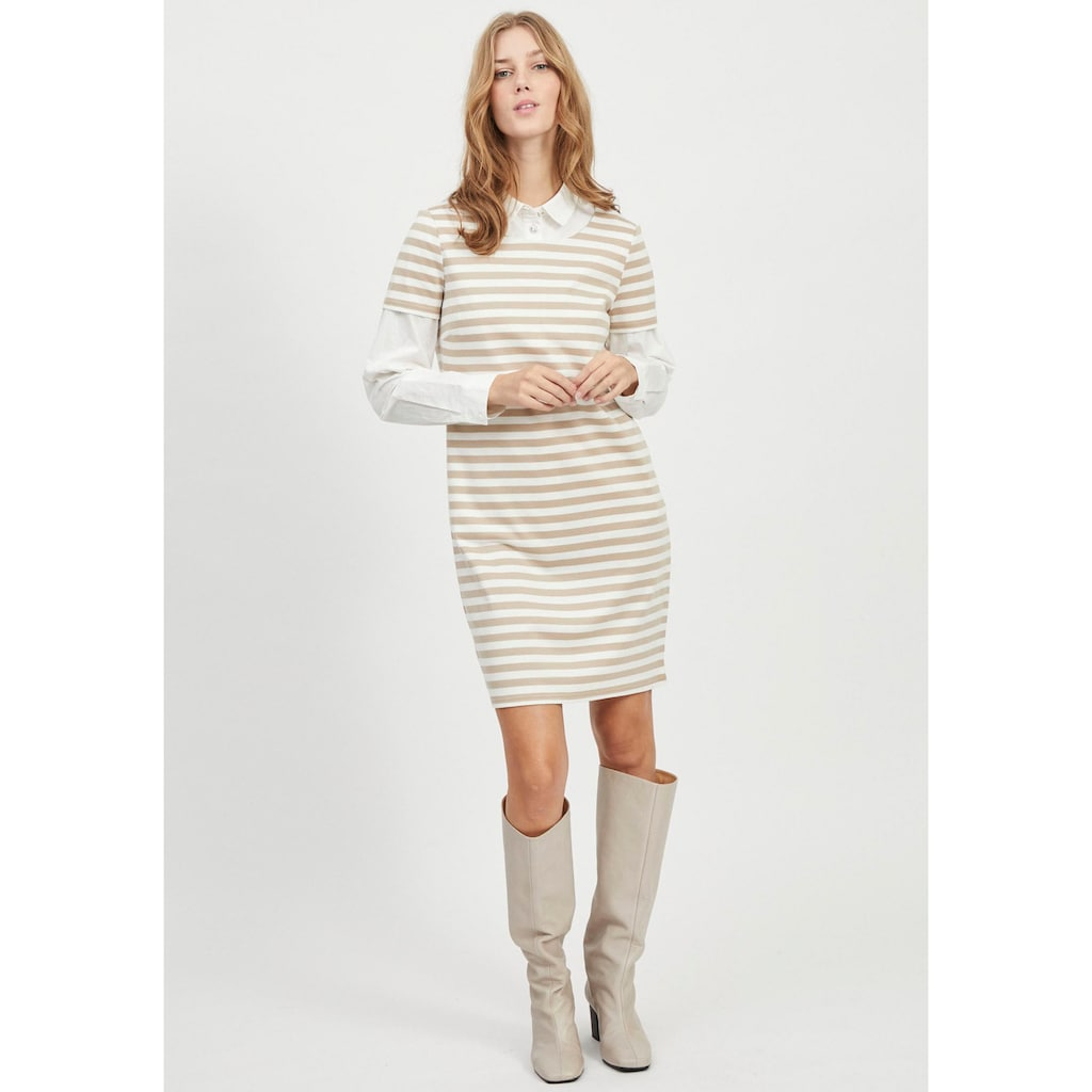 Vila Jerseykleid »VITINNY«, im Allover Streifendesign