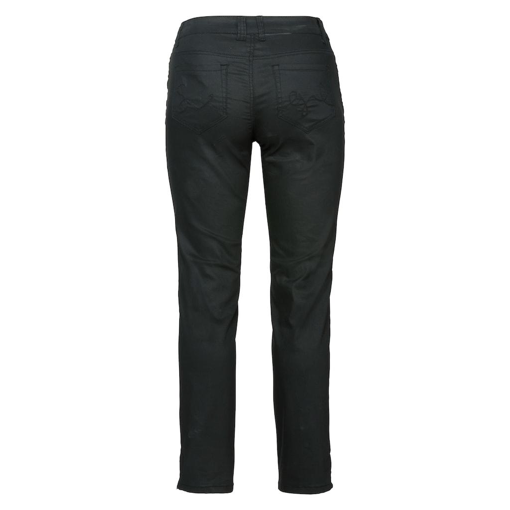 Sheego 5-Pocket-Hose, matt glänzend