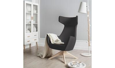 andas Drehstuhl »Alette«, mit Füßen aus massiver Esche, natur-oder wallnussfarben lackiert kaufen