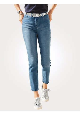 Mona Jeans mit toniger Stickerei auf den Taschen kaufen