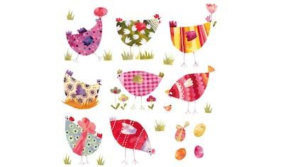 Wall-Art Wandtattoo »Märchenhaft Bunte Hühner« kaufen