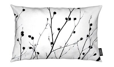 Juniqe Dekokissen »Winter Silhouettes 2«, Weiches, allergikerfreundliches Material kaufen
