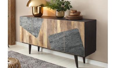 Home affaire Sideboard »Rocks«, aus schönem massivem Mangoholz, mit schwarzen... kaufen