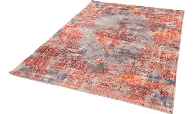 Gino Falcone Teppich »Cecilia 067«, rechteckig, 3 mm Höhe, Flachgewebe, bedruckt, Vintage Design, Wohnzimmer kaufen