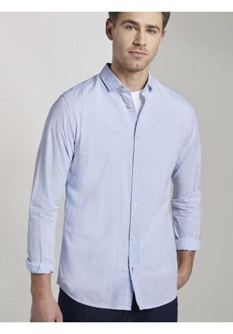 TOM TAILOR Langarmhemd »Strukturiertes Hemd mit schmalem Kent-Kragen« kaufen