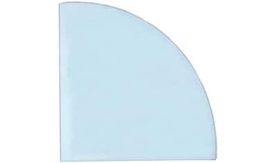 Bodenschutzplatte Viertelkreis 120x120 cm, Glas kaufen