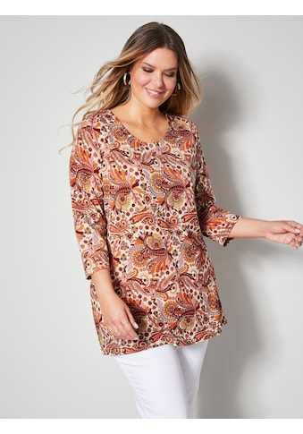 Janet & Joyce by HAPPYsize 3/4-Arm-Shirt, mit schönem Paisley Muster kaufen