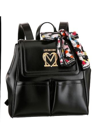 LOVE MOSCHINO Cityrucksack, mit seitlichen Druckknöpfen für variables Taschenvolumen kaufen
