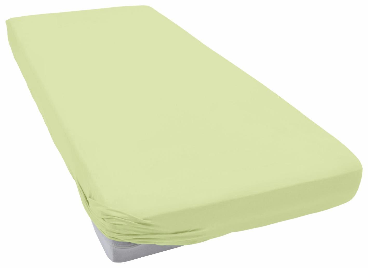 Spannbettlaken »Teddy Flausch«, Primera | Bekleidung > Bademode > Bademäntel | Grün | Flausch - Biber - Baumwolle - Polyester | PRIMERA FIRST SLEEPWARE