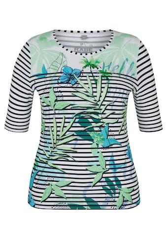 Rabe T - Shirt mit Allover - Ringeln und Blumen - Print kaufen