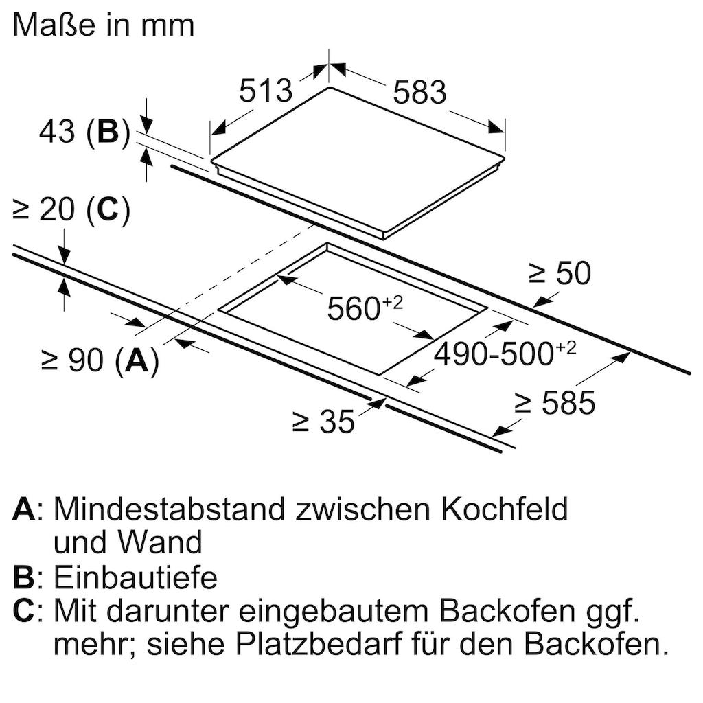 BOSCH Elektro-Herd-Set »HND231AS61«, HEF133BS1, mit Teleskopauszug nachrüstbar, ecoClean Direct