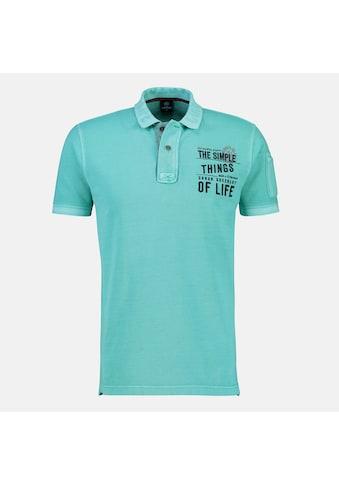 LERROS Poloshirt, mit Mottoprint auf der Brust kaufen