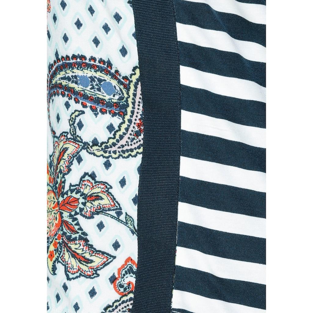 Cecil Blusenshirt, mit farbenfrohem Paisley-Muster und seitlichem Galonstreifen