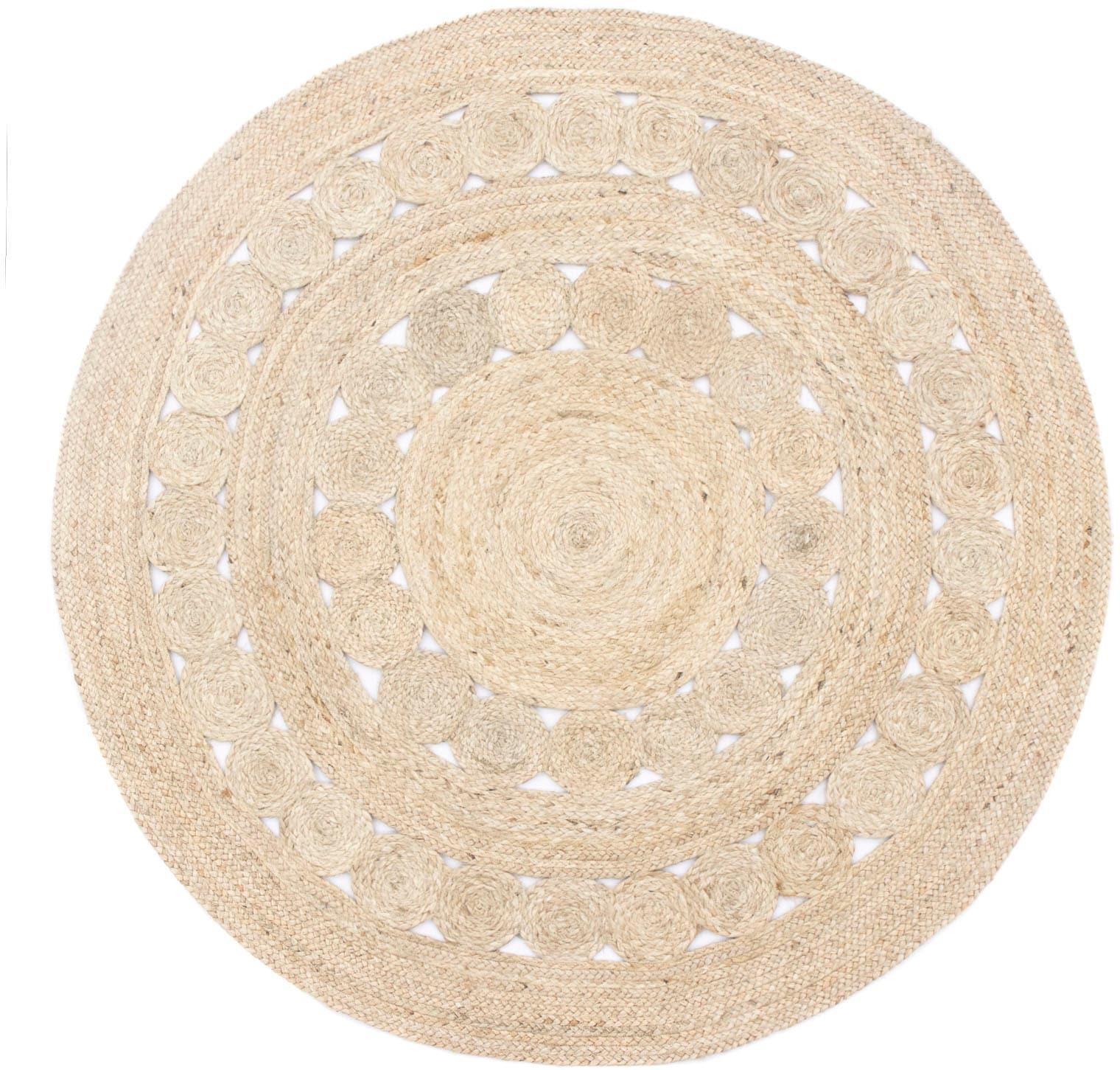 morgenland Teppich Sisalteppich Darcia, rund, 6 mm Höhe beige Esszimmerteppiche Teppiche nach Räumen