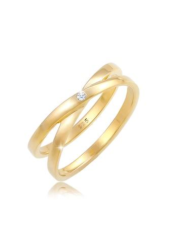 Diamore Diamantring »Wickelring Cross Diamant (0.015 ct.) 925 Silber« kaufen
