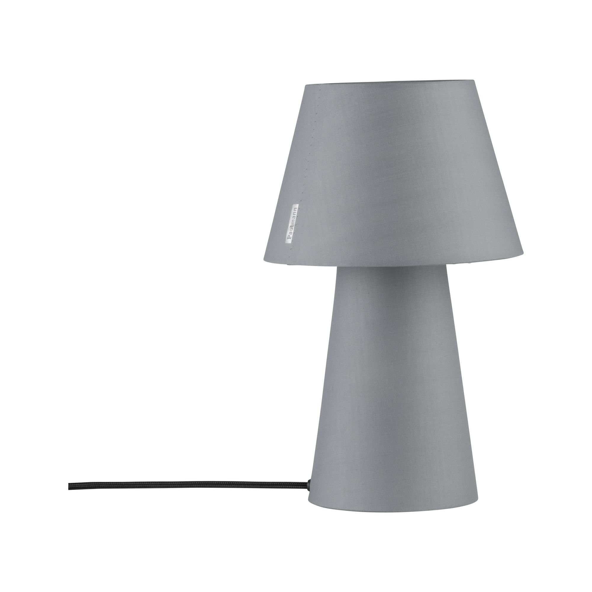 Paulmann LED Tischleuchte Kelt mit Stoffschirm und -fuß Grau max. 20W E14, E14, 1 St.