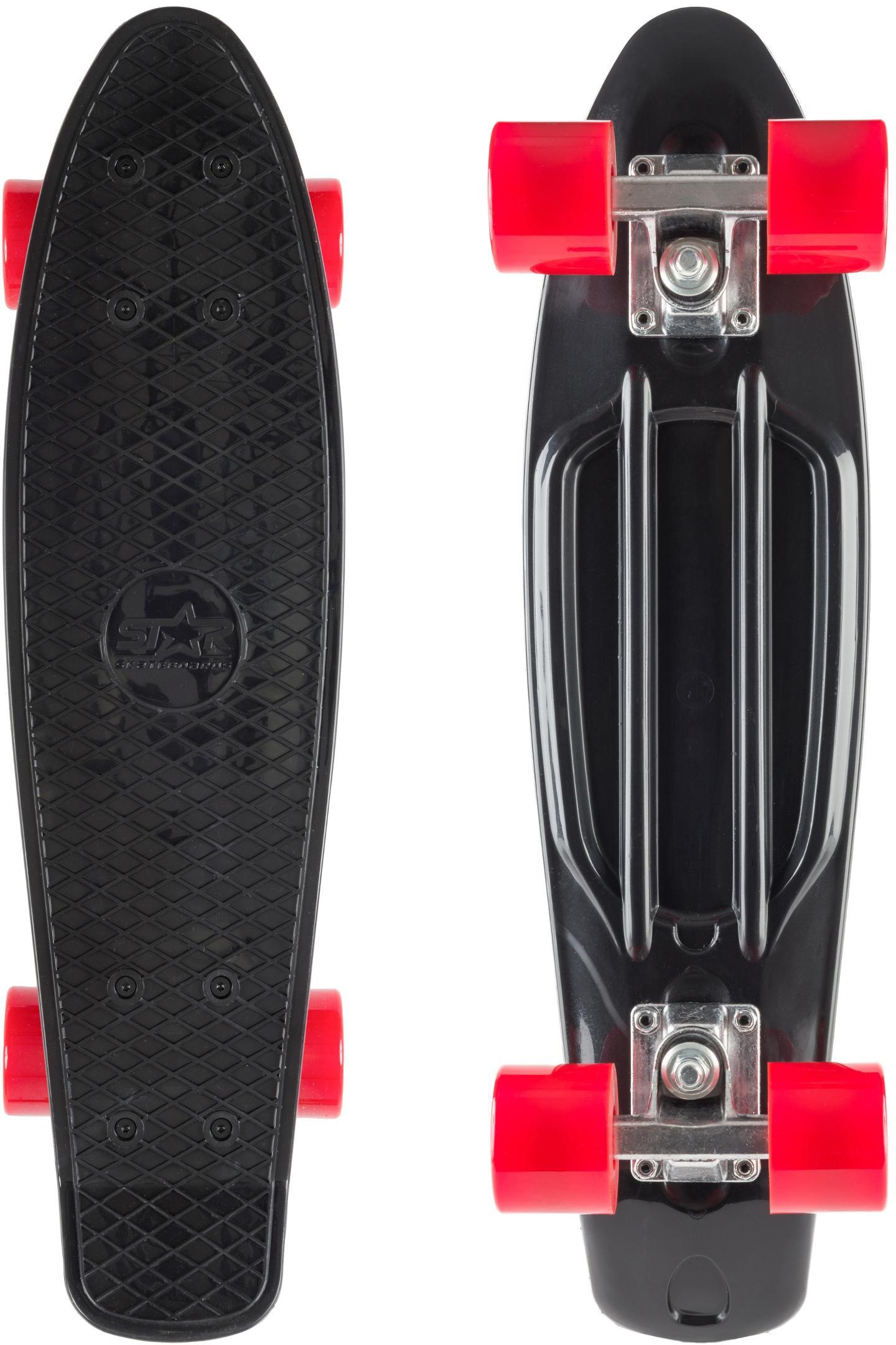 Star-Skateboard Skateboard, Kicktail schwarz Skateboards Skateausrüstung Sportausrüstung Accessoires Skateboard